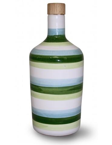 Bottiglia per olio a fasce...