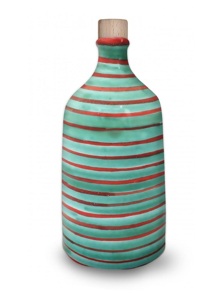 Bottiglia Per Olio A Forma Di Trullo Mille Righe